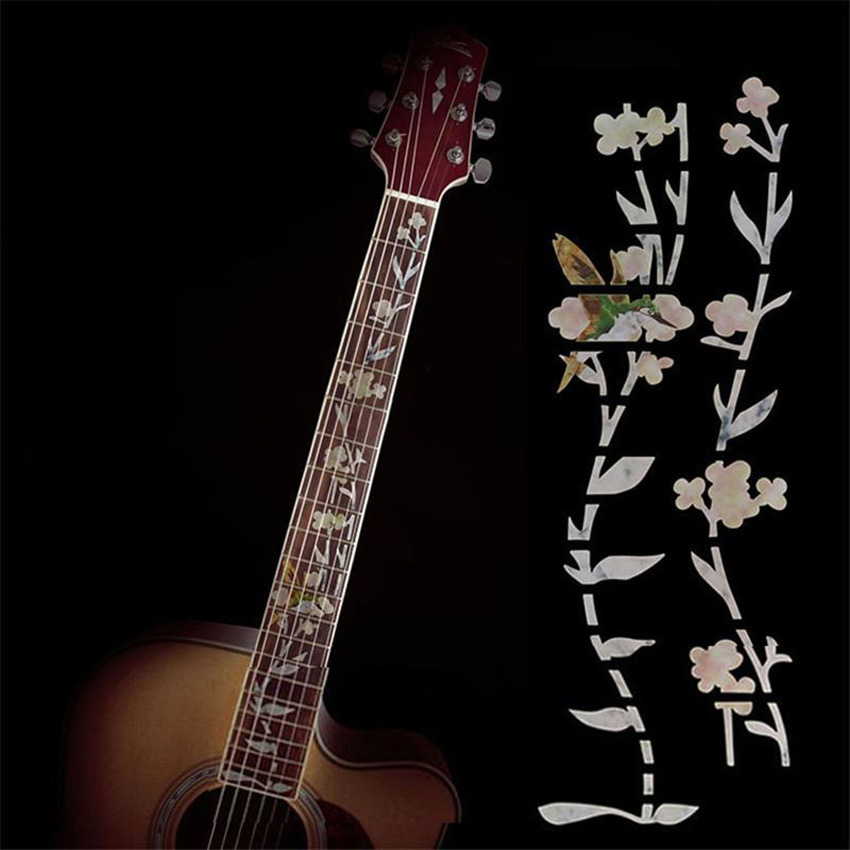 ... Gracefulvara Guitar Inlay Stickers Elegant White Shell Flowers Guitarra Fretboard  Decals/ Markers For Guitar Fret ...