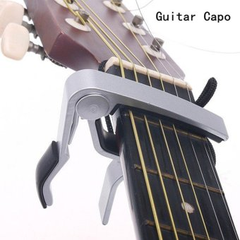 Guitar Capo Musical Instrument Accessories Alloy Acoustic BassGuitar Capo Bass Quick Change Clamp Tone Tuning sandhi Clip FolkElectric Music Insturment Tuner Tuning Tool (Silver) - intl