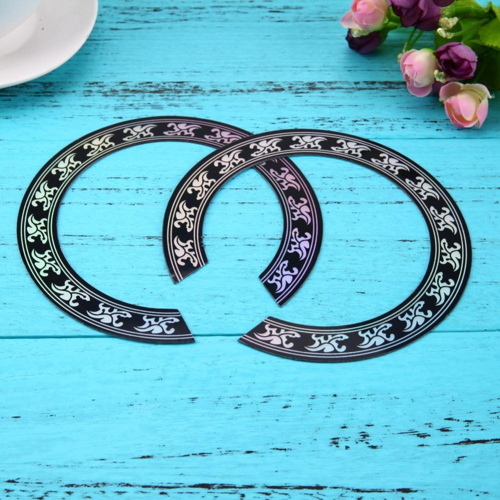 ... Guitar Circle Sound Hole Rosette Inlay for Acoustic Guitars DecalAccessory(Black)-40 41 ...