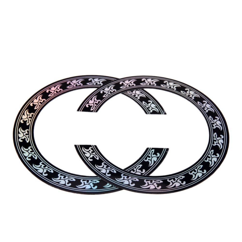 Guitar Circle Sound Hole Rosette Inlay for Acoustic Guitars DecalAccessory(Black)-40 41 ...