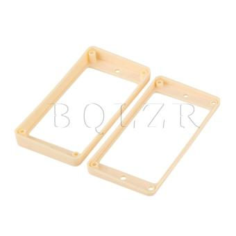Guitar Humbucker Pickup Ring Curved Bottom Ivory - picture 2