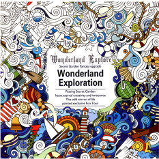HengSong Secret Garden A Wonderland Exploration And Coloring Book English 12pages