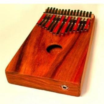 Hugh Tracey Kalimba Kiaat Wood Box-Mounted 15 Note Acoustic Electric Kalimba