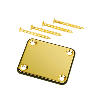 Harga Neck Plate w/ Screws For Fender Strat Electric Guitar Gold