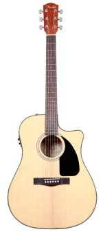 Harga Fender CD-60CE Dreadnought Cutaway Acoustic-Electric Guitar (Natural Wood)
