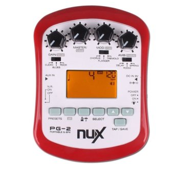 NUX PG-2 Portable Guitar Effects Chromatic/Guitar Tuner Metronome Price Philippines