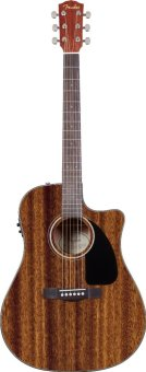 Harga Fender CD-60CE Dreadnought Cutaway Acoustic Electric Guitar (Mahogany)