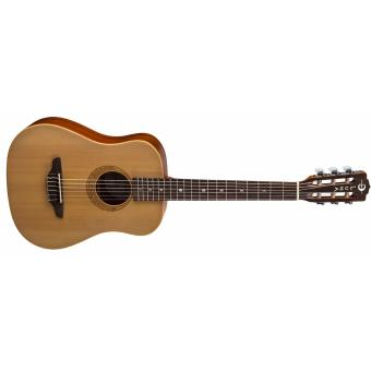 Harga luna nylon travel guitar with dual sensor pick up (natural)
