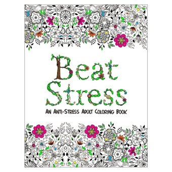 Harga Beat Stress Adult Coloring Book (White)