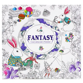 Inspire Zen Fantasy Stress Coloring Book (Violet) Price Philippines