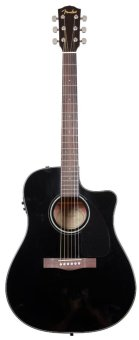 Harga Fender CD-60CE Dreadnought Cutaway Acoustic Electric Guitar (Black)