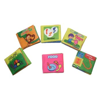 Harga EELIC BABY Soft Toy Book - Toys Baby Cloth Books 6PCS / SET