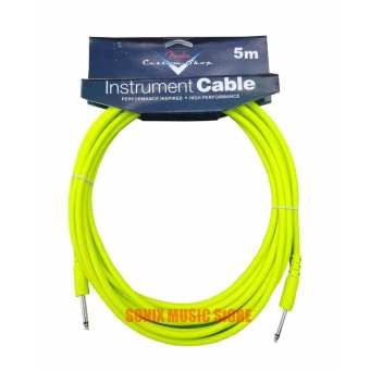 Harga Fender Performance Series Instrument Cables for electric guitar, bass guitar (NEON GREEN)