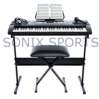 Alesis Melody 61 Beginner Bundle | 61-Key Portable Keyboard with Stand, Bench, Headphones, and Microphone (Black) Price Philippines