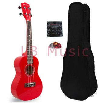 Harga Jasmine Concert Colored Ukulele Ukelele (Red)