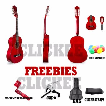 Jasmine JE30N Acoustic Guitar Cupids Bundle (Red) Price Philippines