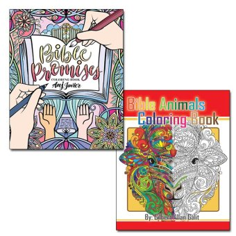 Harga Bible Animals Coloring Book + Bible Promises Coloring Book