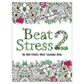 Harga Beat Stress II Adult Coloring Book (White)