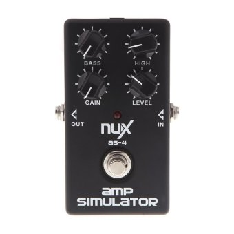NUX AS-4 Amplifier Simulator Guitar Electric Effect Pedal True Bypass Black Price Philippines