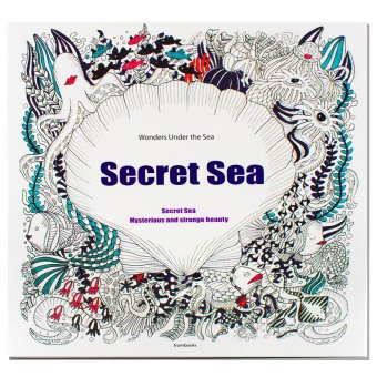 Inspire Zen Secret Sea Anti Stress Coloring Book Purple