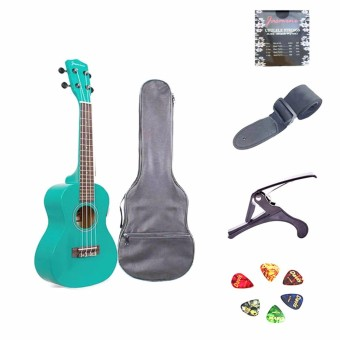 Jasmine Concert Packaged Colored Ukulele (Blue)