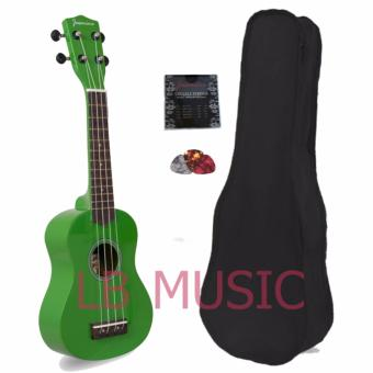 Jasmine Soprano Colored Ukulele Ukelele Complete Set (Green)