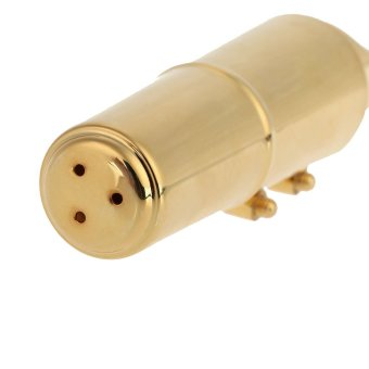 Jazz Alto Sax Saxophone 7C Mouthpiece Metal with Mouthpiece PatchesPads Cushions Cap Buckle Gold Plating - 3