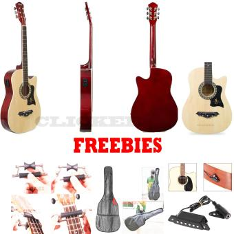 JG-38 EQ2 Gift Deals Bundles Acoustic Guitars (Natural)