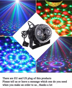 Karaoke KTV Mini RGB LED Crystal laser Lantern Magic RadiumSpotlight Ball Stage Effect Lighting Lamp Bulb Party Disco NightClub DJ Light Show Lumiere Stage Effect Lighting Lamp Party DiscoClub DJ Bar Light Show - intl