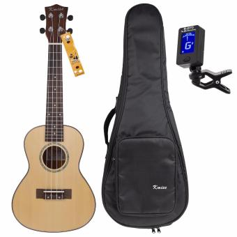 Kmise Concert Ukulele Uke Acoustic Hawaii Guitar with 23 InchSpruce Rosewood with Bag Tuner - intl