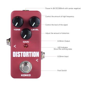KOKKO FDS2 Mini Distortion Pedal Portable Guitar Effect Pedal - intl - 2