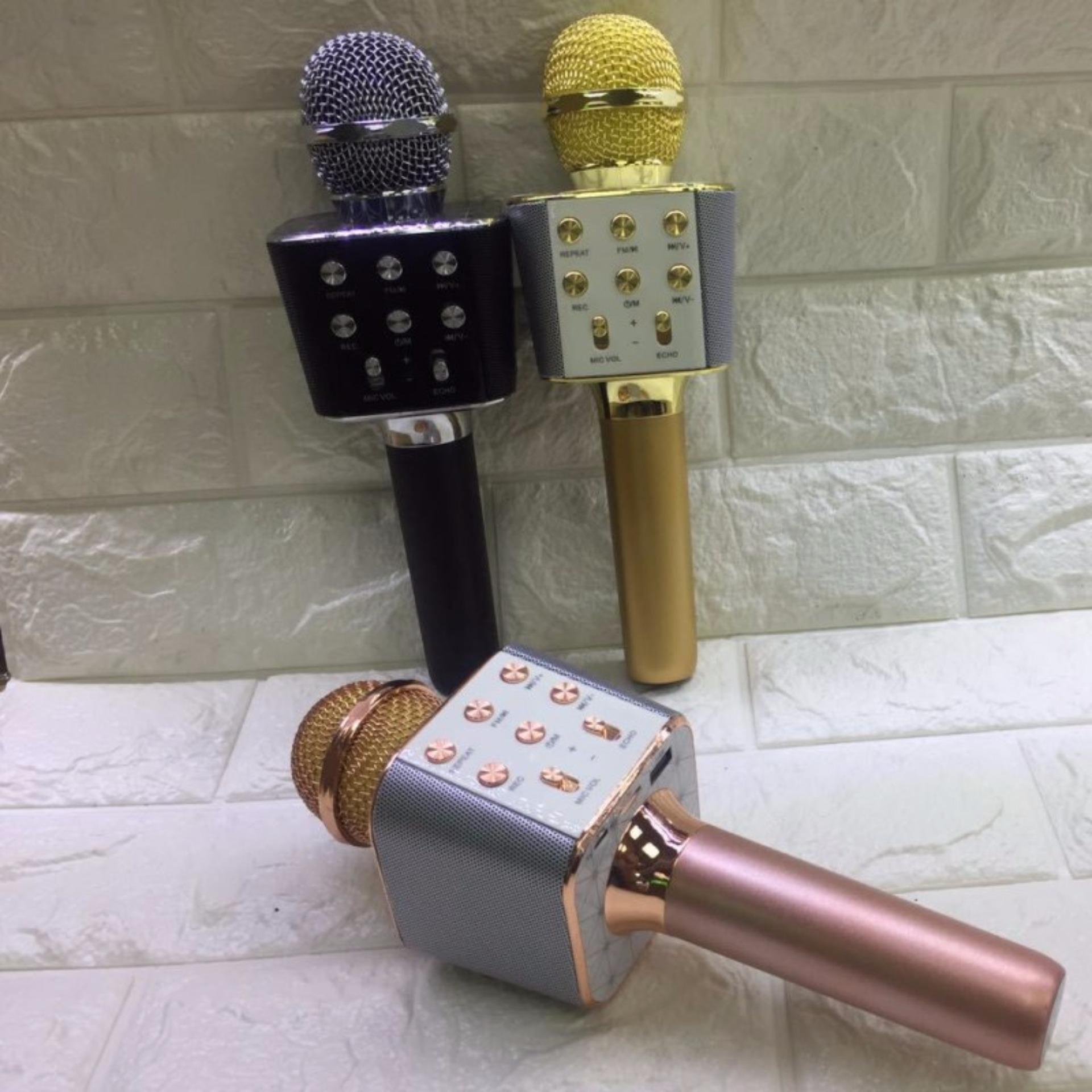 Philippines Ktv Karaoke Wireless Microphone Bluetooth Handheld Mic Hifi Speaker Sing A Song Speakerrose Goldws1688