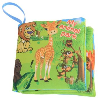 LALANG Baby Educational Early Learning Cloth Book Animal ParkPicture Cognition