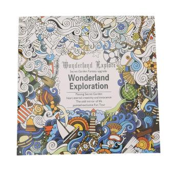 LALANG Secret Garden Wonderland Exploration Painting Coloring BookEnglish Edition 24 Pages