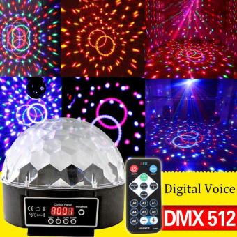 LED RGB Crystal Magic Ball Effect Light Disco DJ Stage Lighting -intl
