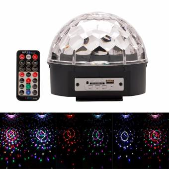 Lighting Crystal Magic Ball Christmas Light SD Card MP3 Speaker DMX512 DJ Lights Dance Club Party Disco Ball Lamps KTV Bar Effect Lighting Show + Remote Control
