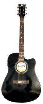 Lyric Thin2EQ Acoustic-Electric Guitar (Black)
