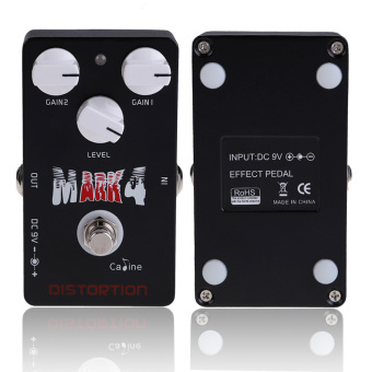 Mark 4 Distortion True Bypass Guitar Effect Pedals CP-16 Black - INTL