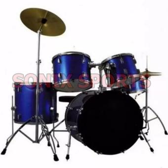 Maya Drum Set new 2017 model with Cymbals chrome edition (BLUE) Price Philippines