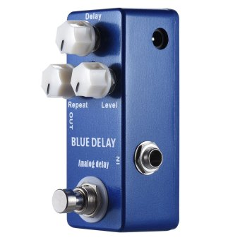 Mini Analog Delay Guitar Effect Pedal True Bypass Zinc-aluminium Alloy Body - intl