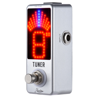Mini Chromatic Tuner Pedal Effect LED Display True Bypass for Guitar Bass - Intl