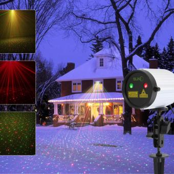 Mini Outdoor Laser Projector Static Pattern Waterproof Red Green RGStar Dots Color Projection Light Landscape Yard Garden - intl