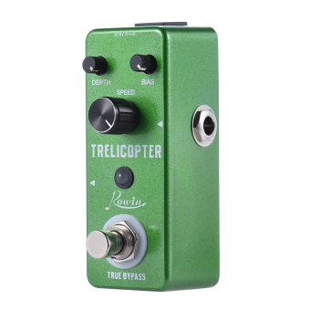 Mini Tremolo Guitar Effect Pedal True Bypass Aluminum Alloy Body -intl
