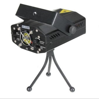 Mini Voice Automatic Control R&G Laser Lights LightingProjector Disco DJ Stage Xmas Party Show Club Star Bar + Tripod
