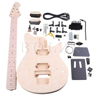 MM1-F Maple Basswood 6 String Electric Guitar Builder DIY Kit -intl
