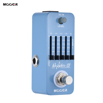 MOOER Graphic G Mini Guitar Equalizer Effect Pedal 5-Band EQ True Bypass Full Metal Shell - intl
