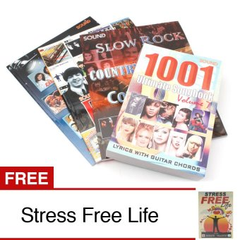 Music Song Book Bundle of 4 with Free Stress Free Life Book