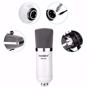 Neewer NW-700 Microphone Kit,Professional Broadcasting Studio Recording Condenser Microphone Mic Kit with Shock Mount Adjustable Suspension Scissor Arm Stand Mounting Clamp Pop Filter Outdoorfree - intl - 3