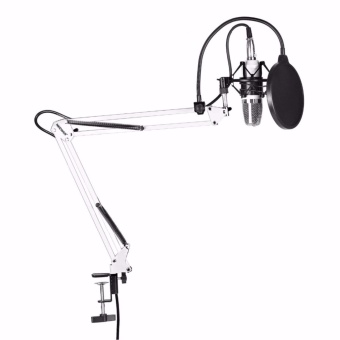 Neewer NW-700 Microphone Kit,Professional Broadcasting Studio Recording Condenser Microphone Mic Kit with Shock Mount Adjustable Suspension Scissor Arm Stand Mounting Clamp Pop Filter Outdoorfree - intl - 2