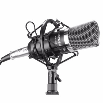 Neewer NW-700 Professional Studio Broadcasting & RecordingCondenser Microphone Set Including: (1)NW-700 Condenser Microphone+ (1)Metal Microphone Shock Mount + (1)Ball-type Anti-wind Foam Cap+ (1)Microphone Audio Cable (Black) - intl